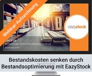 Webinar Bestandskosten senken durch Bestandsoptimierung mit EazyStock